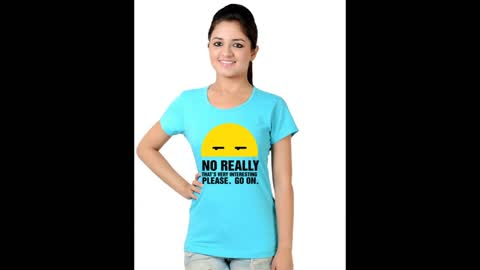 Womens Funny Graphic Turquoise Colour T Shirt