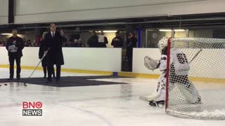 Prince William Shows Off His Ice Hockey Skills - Video