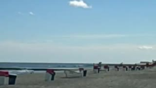 DEAL CASINO BEACH (NJ/New Jersey shore ocean beach front view) - Video