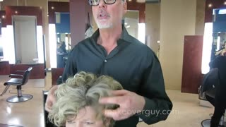MAKEOVER: EXTREMELY THICK COARSE HAIR!! by Christopher Hopkins, The Makeover Guy - Video