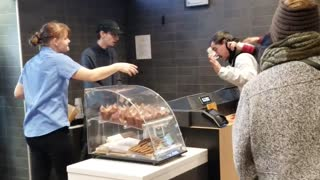 Fast Food Argument Escalates into Food Fight