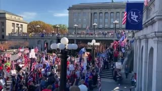 Patriots rally for President Trump in Harrisburg, PA