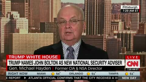 Former CIA Directer Warns that John Bolton Could Push Nation 'in a More Dangerous Course'