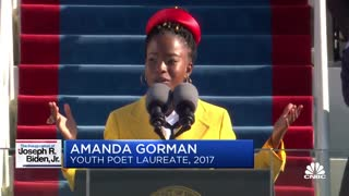 Inaugural poet Amanda Gorman delivers a poem at Biden's inauguration