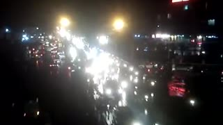 Beautiful view of Lahore at night at old mazang flyover  - Video