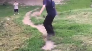 Guy skateboarding down hill falls down - Video