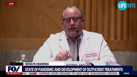 Doctor pleads for review of the data during COVID-19 Senate hearing