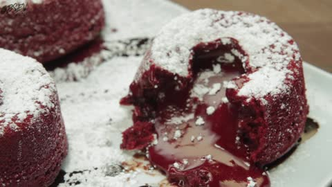 How to Make Red Velvet Lava Cakes – Full Step-by-Step Video Recipe