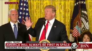 Trump orders establishment of 'space force' as 6th branch of military - Video