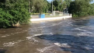 Sugar River Floods Wisconsin Town