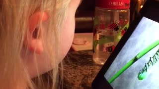 Little Girl Has Bathroom Accident Watching Bug Video - Video
