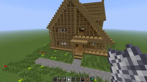 MINECRAFT How to build big wooden house