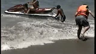 Woman Pulls Sister Off Jetski Trying To Get On It - Video