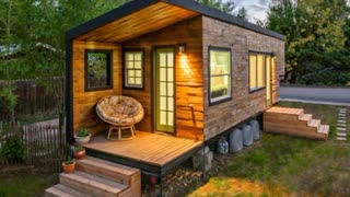 Woman Builds A Beautiful Tiny House - Video