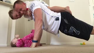 Daddy Exercising with the Kids - Video