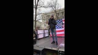 Mikki Willis producer of Plandemic and Plandemic 2 at the Freedom Rally in DC Jan 6 2021
