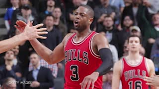 Dwyane Wade BURNS Matt Barnes with Spin Move, FIGHT Breaks Out Between Bulls and Kings - Video