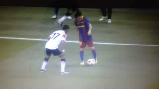Leo Messi humilla a Nani - Video
