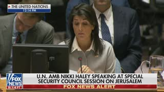 Nikki Haley Scorches the UN For its Treatment of Israel: 'The UN Has Done Much More Damage...' - Video
