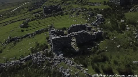 Eerie deserted village in Ireland filmed from drone