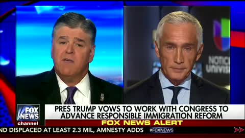 Sean Hannity And Jorge Ramos Battle Over DACA and Constitution