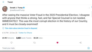 President Trump Tweets that a Special Counsel is Needed Immediately
