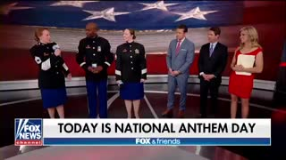 'Fox & Friends' hosts honor National Anthem Day - Video