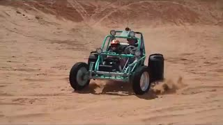 Sandrail wheelies at little Sahara Dunes
