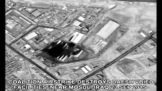 Airstrikes target alleged bomb plant - Video