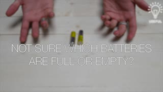 Amazingly simple way to test if a battery is dead - Video