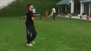 Imran khan pakistan cricket legend playing cricket with his sons in pakistan  - Video