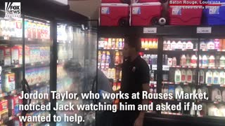 College Donations Reach 100K After Store Employee Allows Austic Child To Help Stock Shelves - Video