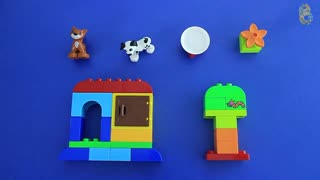 Learning how to Build and Rebuild with Lego Duplo Creative Play Toys - Video
