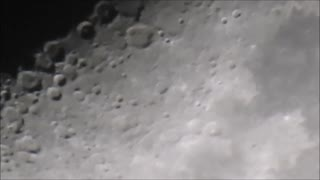 Dec 25th Moon zoom 9:45 pm  - Video