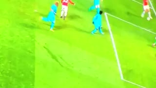 Ibrahimovic somehow scores from an impossible angle