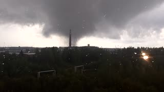 Tornado in Russia on August 24, 2016 (3rd Angle) - Video