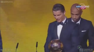 CRISTIANO RONALDO FIFA Ballon d'Or winner 2015 - Video
