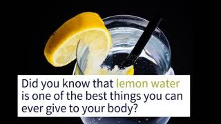 THIS is Why You Should Drink Lemon Water! - Video