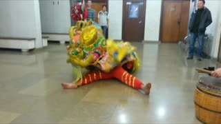 Lion Dance Training Tet holiday - Video