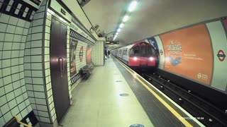 train arrives at leister square