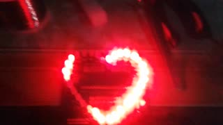 Heart Lights 32 red led - Video