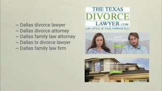 Dallas tx divorce lawyer - Video