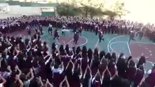 A dance performance by school girls - Video