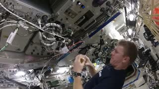 Astronaut shows us how to make scrambled eggs in space!
