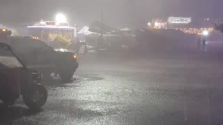 Intense Storm at Graham County Fair - Video
