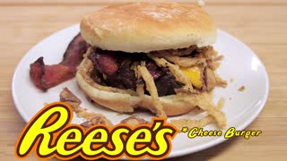 Reese's Peanut Butter Cup Bacon Cheeseburger, Decadence Incarnate - Video