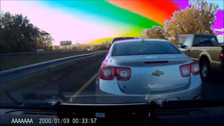 Dashcam of BMW i3 Getting Hit From Behind - Video