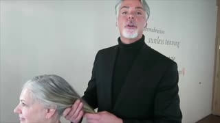 MAKEOVER: Gray to Blonde, by Christopher Hopkins,The Makeover Guy®