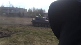 Racing army tanks for charity! - Video