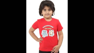 Funny Graphic Design Pink Colour Kids Tee Shirts - Video